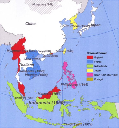 Map Of Asia During Imperialism.Unit 4 Introduction To Nationalism And Imperialism